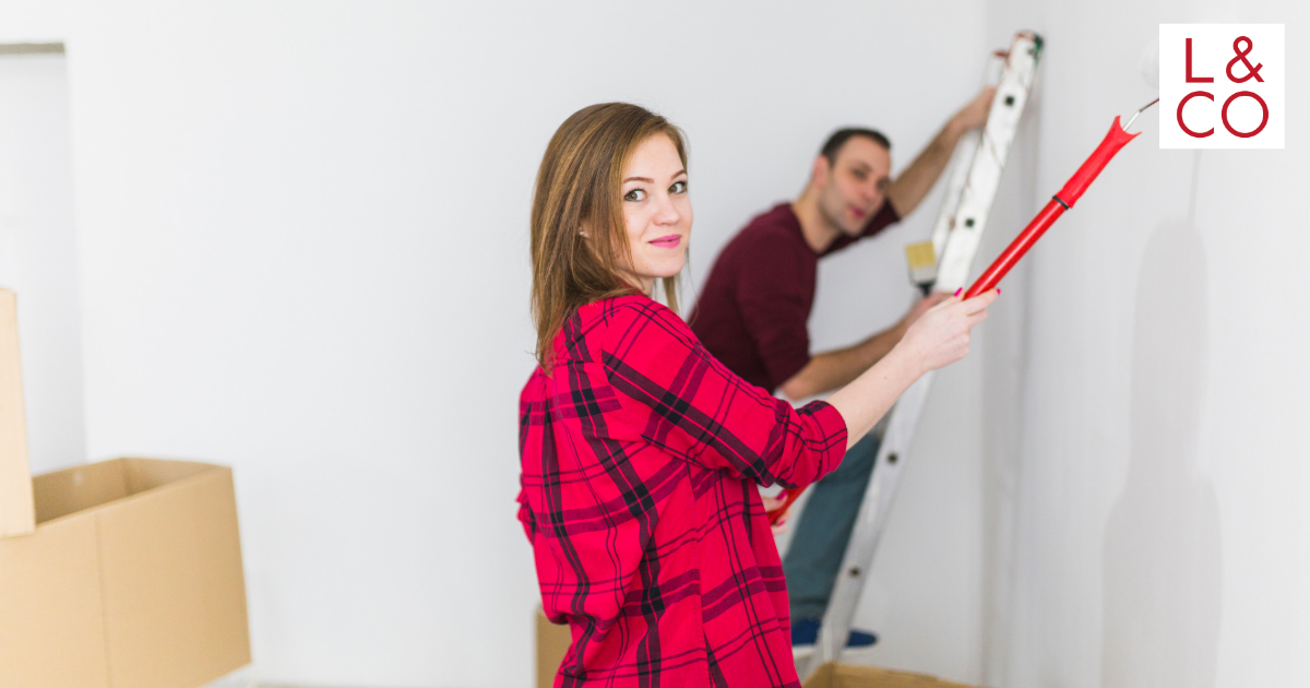 painting and renovating home